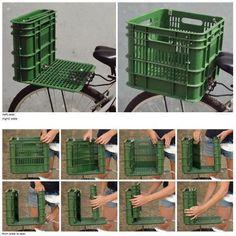 es una caja de verdura, de chico panadero, adaptada para la comodidad del ciclista si lleva un paquete es caja, si hay que ayudar a alguien y darle un aventón es un practico segundo asiento con todo y recargadera