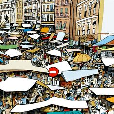Travel Illustration, Urban Sketchers, Wall Art Prints, Graphic Art, Pop Art, City Photo, Around The Worlds, Skyline, Scrap