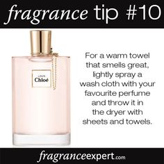 Fragrance Tip - For a warm towel that smells great, lightly spray a wash clo. - Fragrance Tip – For a warm towel that smells great, lightly spray a wash cloth with your favo - Perfume Zara, Perfume Diesel, Dior Perfume, Best Perfume, Perfume Quotes, Fm Cosmetics, Perfume Good Girl, Best Fragrances, Tips