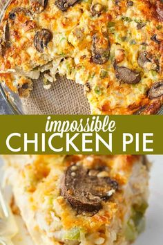 Impossible Chicken Pie Impossible Chicken Pie – A delicious vintage meal for your family! This easy chicken pie bakes it own crust and is filled with tender chicken and veggies. Quiches, Bisquick Recipes, Quiche Recipes, Bisquick Chicken Pie Recipe, Chicken Pie Recipes, Meals With Chicken, Biscuit Recipe, Cassoulet, Easy Brunch Recipes