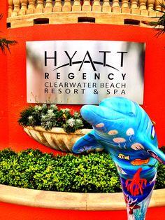"""Sandee C. Waters"" hangs out at the Hyatt Regency, Clearwater Beach, 301 So. Gulfview Blvd., Clearwater Beach.  Artist:  Haley Kukoleck & Students, @Morean Arts"