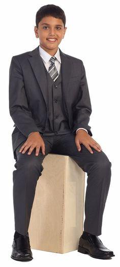 Magen Kids Boys Formal Bridal 5 Pcs Set Suit Size 1-18 Charcoal 2 Buttons #10   Clothing, Shoes & Accessories, Kids' Clothing, Shoes & Accs, Boys' Clothing (Sizes 4 & Up)   eBay!