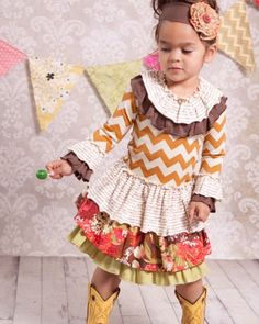 Giggle Moon - Fall Blossom - Connie Skirt Set