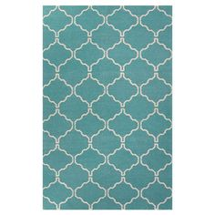 Flatweave wool rug with a Moroccan-inspired trellis motif.  Product: RugConstruction Material: 100% Wool