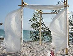 Bamboo Wedding Arch/Beach Wedding Arch/Bamboo Chuppah/Wedding Arch Fabric Draping/Beach Weddings/Beach Wedding Decorations/Bamboo Arbor