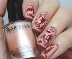 Brit Nails: All Bloodied Up - gross Halloween nails