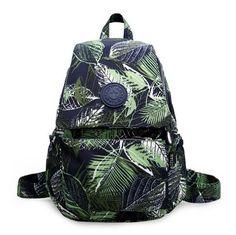 leaf pattern causal backpack