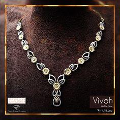 Australian Diamond in Nepal, Shree Balaji Diamond offers top Australian Diamond in Kathmandu Nepal.we are top Australian Diamond Jewellery Shop. Diamond Necklace Set, Gold Pearl Necklace, Diamond Jewelry, Jewellery Sketches, Jewelry Model, Stylish Jewelry, Simple Necklace, Schmuck Design, Necklace Designs