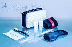 Unused Durable Service Passenger Inflight Toiletries Set In Zip Bag New Faithful Aeroflot