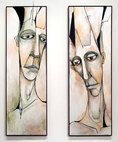 Abstract Faces, Abstract Portrait, Portrait Art, Hippie Art, Face Art, Artist Art, African Art, Figurative Art, Oeuvre D'art