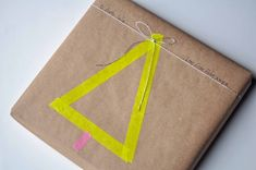 Beautiful package with masking tape