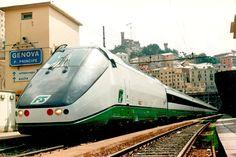 Treno sperimentale ETR Y 500 a Genova Piazza Principe il 5 luglio 1992 - (Foto: Riccardo Genova)