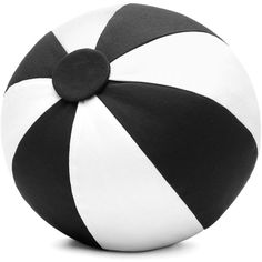 Scenery Label - Ball Cushion Black and White ($97) ❤ liked on Polyvore featuring home, home decor, throw pillows, pillows, decor, outdoor decor, black white home decor, black and white home accessories, black and white throw pillows and black white throw pillows