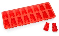 Gummy bear ice cube tray - coat it with a thing mist of PAM, mix up Jello and vodka, pour in molds and refrigerate