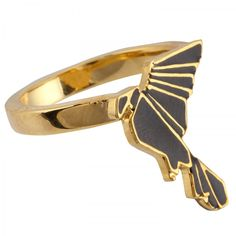 Sakdidet Road origami hawk ring