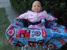 Farmal tractors baby shopping cart cover/ high by littlestitches59, $40.00