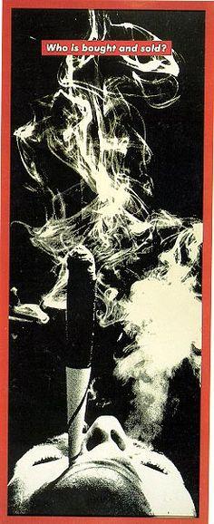 BarbaraKruger-Who-is-bought-and-sold-1990.jpg 247 × 605 bildepunkter