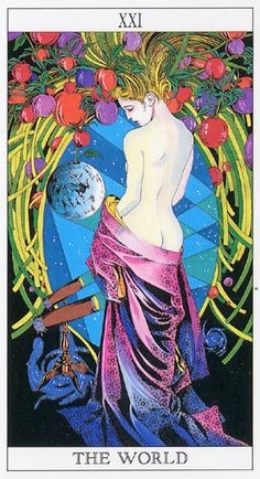 Love and Mystery Tarot by Yoshitaka Amano: The World