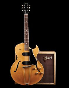 A look at the most budget-conscious of Gibson's thinline hollowbodies. Jazz Guitar, Guitar Art, Guitar Strings, Music Guitar, Cool Guitar, Acoustic Guitar, George Harrison, Les Paul, Archtop Guitar