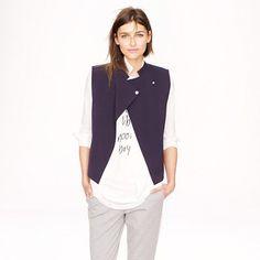 Public School x J. Crew vest (get details on the collab here http://chicityfashion.com/designer-collaborations-2/)