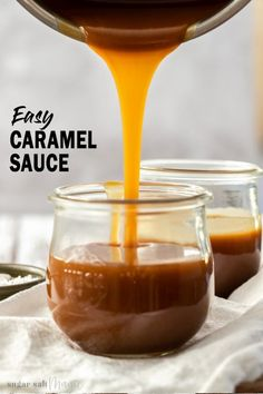 Homemade Quick Caramel SauceThis Homemade Quick Caramel Sauce is dreamy! Making caramel sauce is simple with this 4 ingredient, 5 minute recipe and you'll never have to buy it again. I have numerous ways of getting my caramel fix and this Homemade Q Homemade Chocolate Sauce, Homemade Caramel Sauce, Salted Caramel Chocolate, Caramel Recipes, Homemade Chocolates, Homemade Sweets, Salted Caramel Sauce, How To Make Caramel, Making Caramel