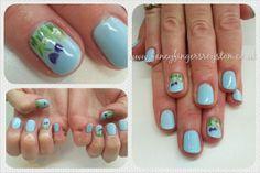 Spring garden nail art Spring Garden, Fingers, Nail Art, Fancy, Nails, Beauty, Finger Nails, Ongles, Nail Arts