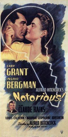 Ingrid Bergman, Cary Grant, and Claude Rains in Asktan da Üstün (1946)