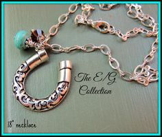 Terrific Teal by Leanne Schuetz on Etsy - Featuring The E and G Collections horseshoe necklace!