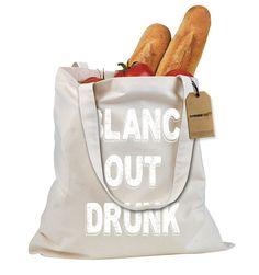 Blanc Out Drunk Sauvignon Shopping Tote Bag