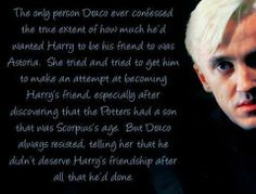 I hope he will make his apology to Hermione and Ron as wel, he was a real jerk.