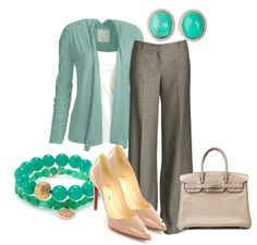 Teal Cardigan Outfit for Work -- #Summer 2012