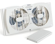 Designed to fit most double-hung and slider windows. Water-resistant motors are safe to use during rainy weather. Designed to fit most double-hung and slider windows, Ideal for large rooms. Designed to fit most double hung and slider windows. Window Fans, Slider Window, Bathroom Exhaust Fan, Portable Fan, Best Windows, Windows 1, Amazing Bathrooms, Twins, Home Appliances