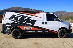 KTM Van wrap