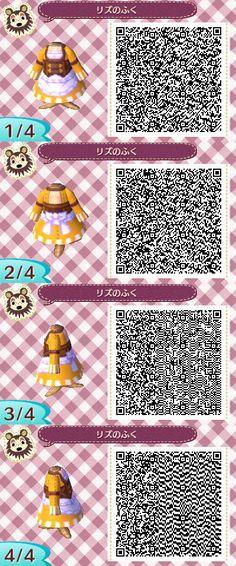 Lissa's Dress from Fire Emblem: Awakening, Animal Crossing New Leaf sewing machine QR Code