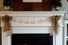 Winter Wonderland: I have a thing for green plants in urns, and I have a thing for burlap. This is cute, crafty and minimal all at the same time. Decorating the mantel is a timeless tradition, so coming up with new ways to do it is a welcome sight.