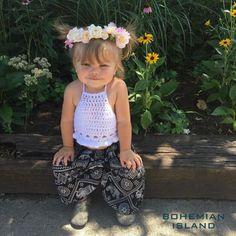 fc6680f84 black elephant kids harem pants bohemian island Kids Harem Pants, Boho Pants,  Flower Girl