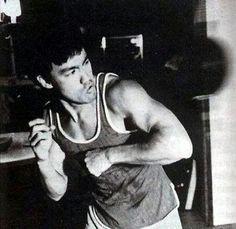 Bruce Lee doin days where he was his own personal inspirational aspirational robust will mon!