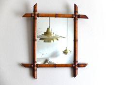 Antique French Mirror faux bamboo frame por lestrictmaximum en Etsy