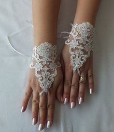 Düğün Eldiven, dantel eldivenler, parmaksız eldivenler, fildişi, gelinlik, düğün gelin, gelinlik eldiven,