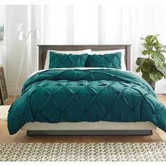 Pinch Pleat Duvet Cover (King) 3pc Teal - Threshold™ : Target