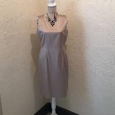 "Anne Klein Tan Sheath Dress Size 10 Anne Klein Taupe Sheath Dress Size 10- dress worn once. Like New Condition. Length is 38"" Anne Klein Dresses"