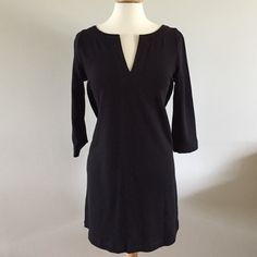J. Crew Cotton Knit Dress Split neck shift dress made from 100% cotton knit. Excellent used condition. J. Crew Dresses