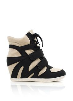 combo wedge sneakers: for the cute and comfortable in you i want, i need.i wish, maybe for xmass^^ Cute Shoes, Me Too Shoes, Hidden Wedge Sneakers, Colorful Shoes, Sneaker Heels, Crazy Shoes, Fashion Shoes, Shoe Boots, Shopping