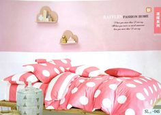 Polka Dots bright bedsheet 100% Cotton king size