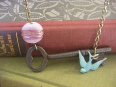 Antique Key Necklace One of  a Kind 18th by CHAiNGEthesubject, $36.00