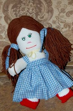 Dorothy sock doll tutorial