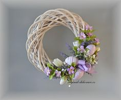 None Easter Wreaths, Holiday Wreaths, Easter Peeps, Wedding Wreaths, Funeral Flowers, Summer Wreath, How To Make Wreaths, Easter Crafts, Grapevine Wreath
