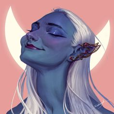 For my lovely friend Oleksandra Ishchenko 🖤💙 Inspired by her Halloween look as a dark elf. Character Portraits, Character Art, Character Design, Elf Art, Vampire Art, Goth Art, Dark Elf, Halloween Looks, Realistic Drawings