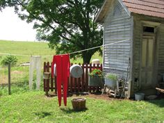 outhouse and clothes line...PRAIRIE BLUE...: June 2011