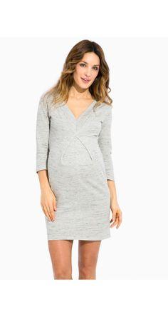Baby Is Coming T-Shirt Lettre Anglaise Robe De Maternit/é V/êTements DAllaitement Pour Femmes Gris L